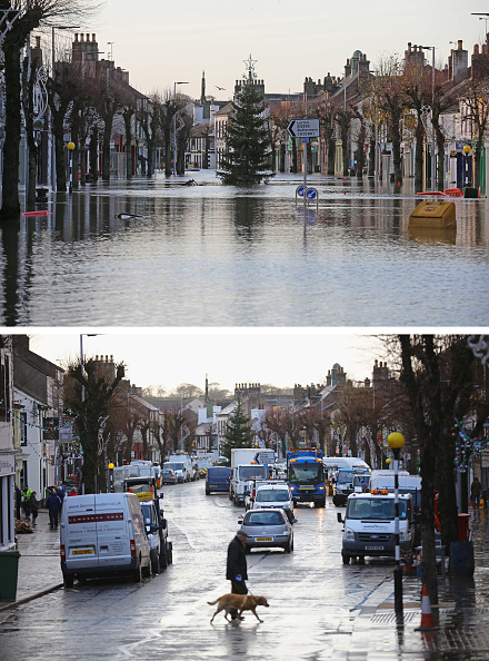Composite Image「Cumbria Counts The Cost Of Flood Damage As The Water Begins To Recede」:写真・画像(0)[壁紙.com]