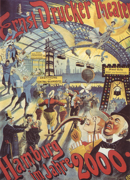 1890-1899「Hamburg in the Year 2000 Poster for the Ernst Drucker Theatre, 1896」:写真・画像(12)[壁紙.com]