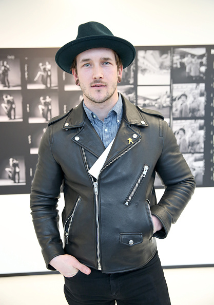 Leather Jacket「Stories Untold Conde Nast Collection Presented By Getty Images - Opening Celebration」:写真・画像(9)[壁紙.com]