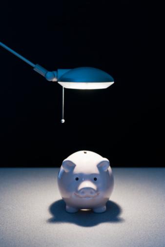 Desk Lamp「Working light on piggy bank」:スマホ壁紙(6)