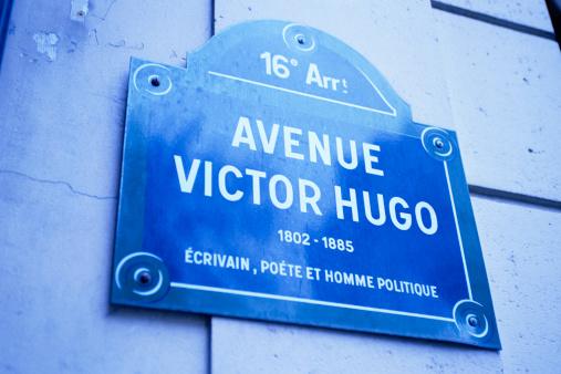 Avenue「Avenue Victor Hugo sign in Paris」:スマホ壁紙(19)