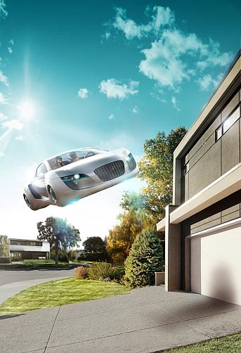 Mid-Century Style「Flying car」:スマホ壁紙(10)