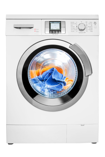 Washing「Washing machine, isolated on white, clipping path」:スマホ壁紙(1)
