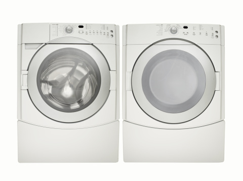 Machinery「Washing machine and dryer, white finish」:スマホ壁紙(3)