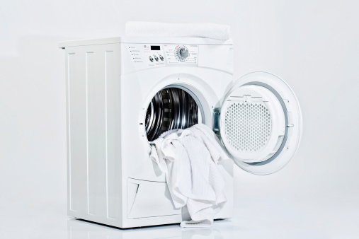Washing「Washing machine on white background」:スマホ壁紙(9)