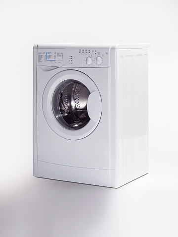 Washing「A washing machine on a white background」:スマホ壁紙(16)