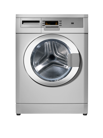 Laundry「Washing machine (isolated with clipping path over white background)」:スマホ壁紙(12)