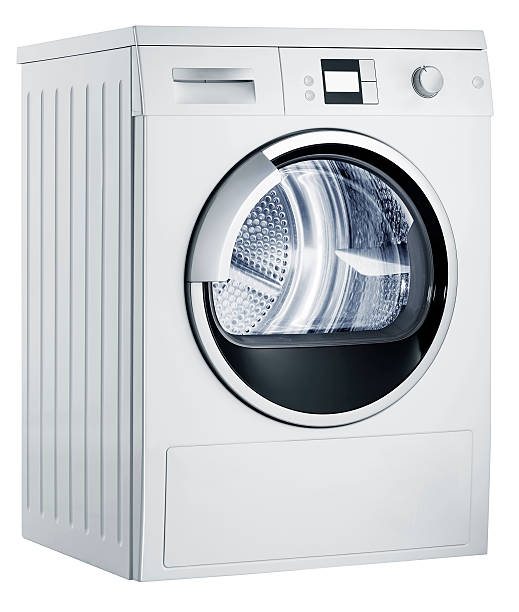 Washing machine (isolated with clipping path over white background):スマホ壁紙(壁紙.com)