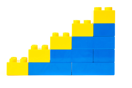 Vector「おもちゃのキューブ成功図グラフ」:スマホ壁紙(14)