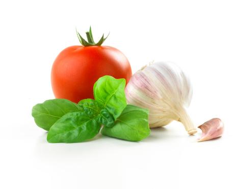 Tomato「tomato, basil leaf and Garlic」:スマホ壁紙(9)