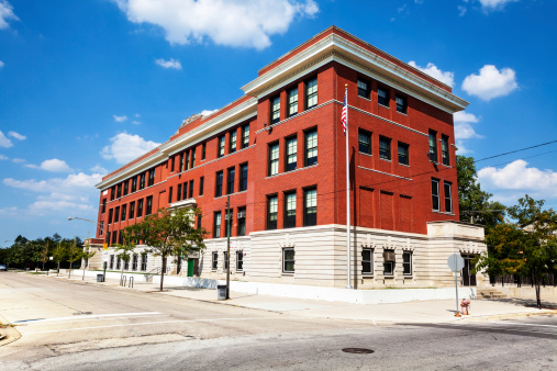 Elementary School Building「Fernwood Elementary School in Washington Heights, Chicago」:スマホ壁紙(19)