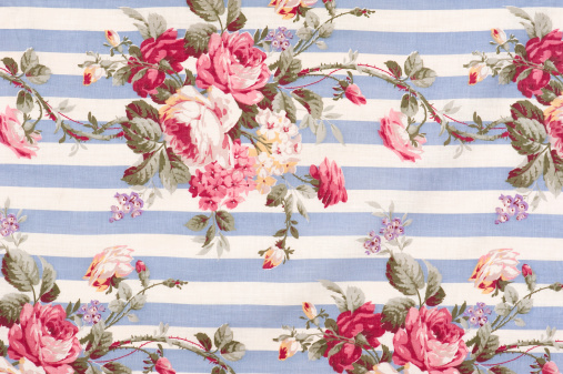 Floral Pattern「Antique Floral Fabric SB30 Close Up」:スマホ壁紙(5)