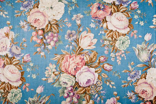 Antique floral fabric 88552135:スマホ壁紙(壁紙.com)