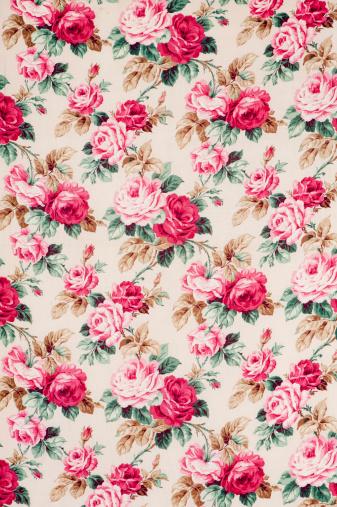 Floral Pattern「Antique floral fabric Wide」:スマホ壁紙(12)