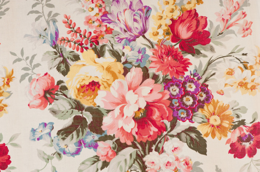 Floral Pattern「Antique floral fabric SB43 Close Up」:スマホ壁紙(13)