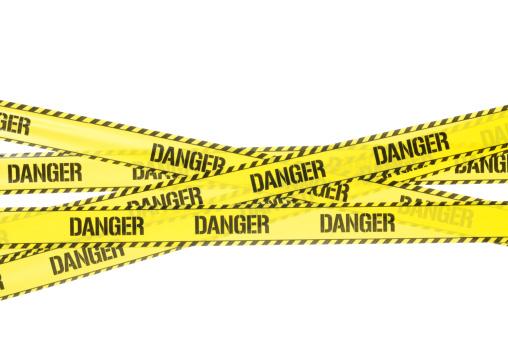 Single Word「Danger Strip」:スマホ壁紙(19)