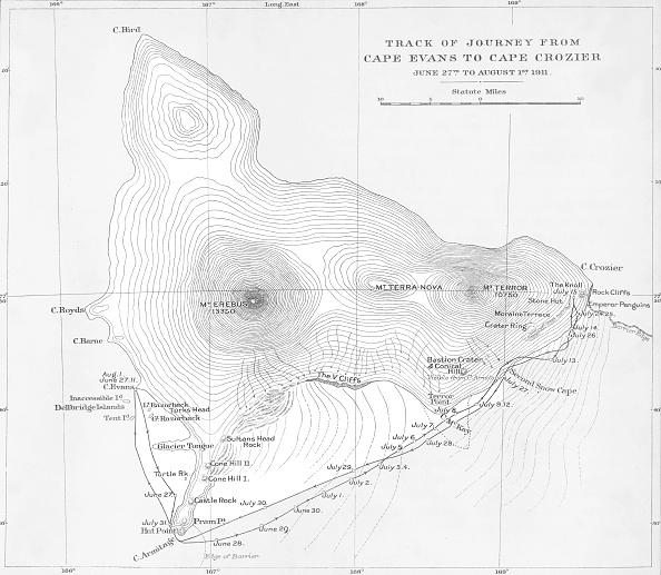 Ski Pole「Track Of Journey From Cape Evans To Cape Crozier - June 27Th To August 1St 1911」:写真・画像(2)[壁紙.com]