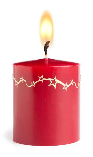 赤「クリスマスキャンドル」:スマホ壁紙(17)