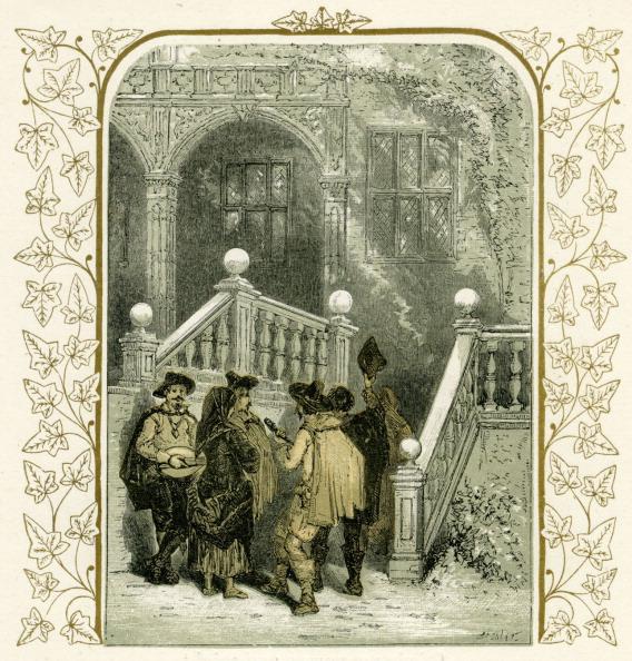 Elizabethan Style「Christmas carollers - illustration by Birket Foster」:写真・画像(18)[壁紙.com]