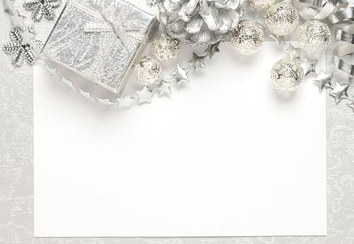 雪の結晶「クリスマスカード」:スマホ壁紙(17)