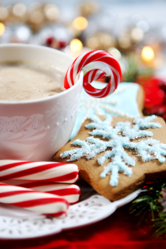 Candy Cane「Christmas- cookies and hot chocolate」:スマホ壁紙(17)