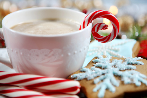 Candy Cane「Christmas- cookies and hot chocolate」:スマホ壁紙(19)