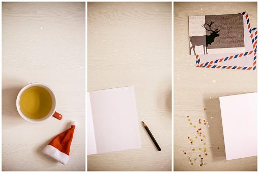 クリスマスカード「Christmas cards, writing, tinkering」:スマホ壁紙(2)