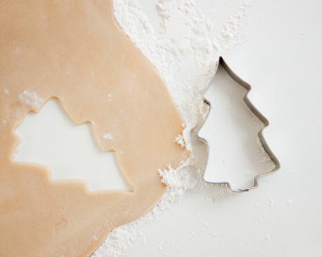 Pastry Cutter「Christmas cookie cutter and dough」:スマホ壁紙(7)