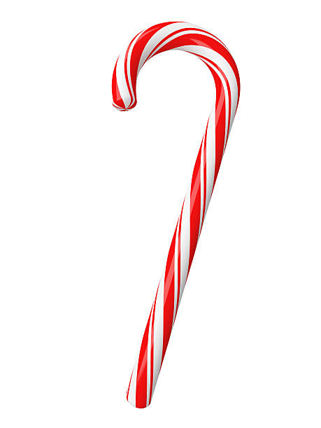 Christmas candy with clipping path:スマホ壁紙(壁紙.com)