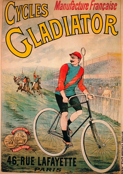 Athlete「Advertisement for Cycles Gladiator bicycles c 1900」:写真・画像(7)[壁紙.com]