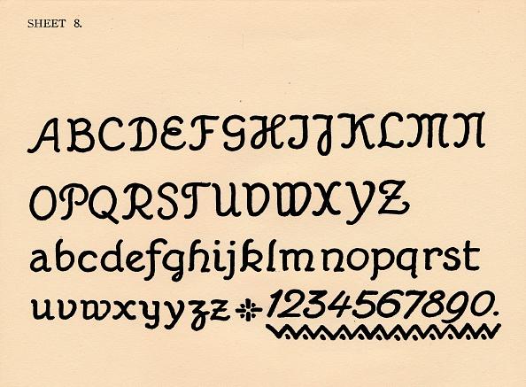 Typescript「Sheet 8 from a portfolio of alphabets 1929」:写真・画像(8)[壁紙.com]