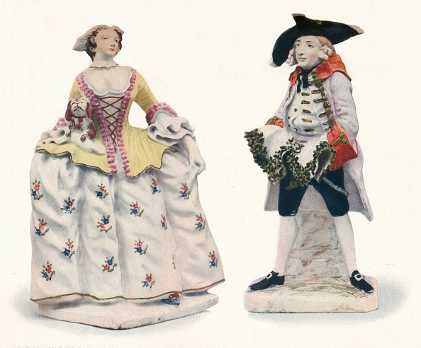 Yellow「Exceptionally Rare Bow Porcelain Figures Decorated in Colours c 1750」:写真・画像(6)[壁紙.com]