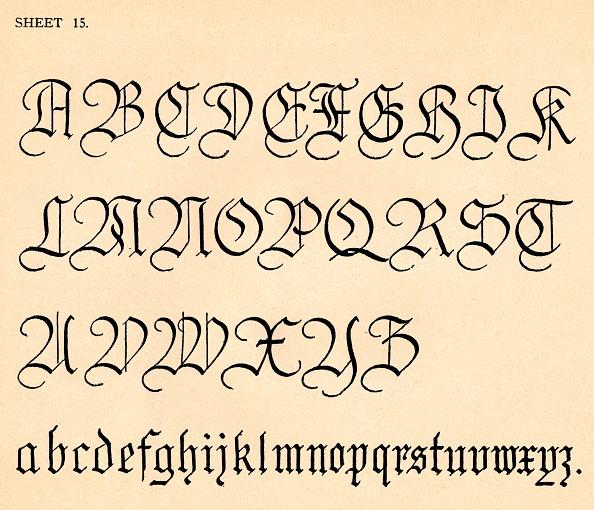 Typescript「Sheet 15 from a portfolio of alphabets 1929」:写真・画像(13)[壁紙.com]