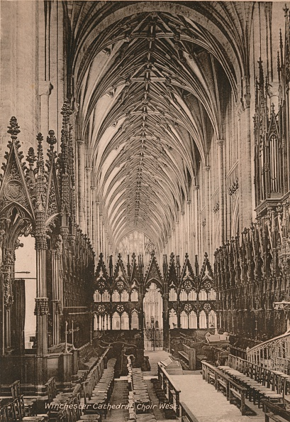 Ceiling「Choir of Winchester Cathedral Hampshire early 20th century(?)」:写真・画像(12)[壁紙.com]