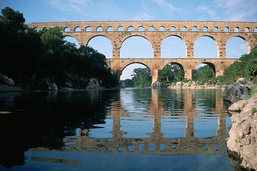 1980-1989「Pont du Gard Aqueduct, Provence, France」:スマホ壁紙(8)