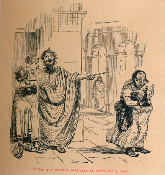 Cartoon「Debtor And Creditor - Seizure Of Goods For A Debt」:写真・画像(6)[壁紙.com]