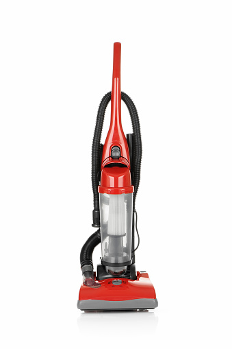 Vertical「Red vacuum cleaner used to improve your cleaning experience」:スマホ壁紙(1)