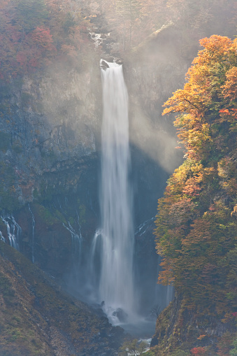 Nikko City「Autumn View of Kegon Falls in Nikko, Japan」:スマホ壁紙(4)