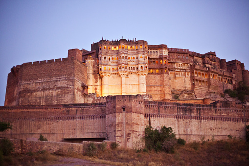 Rajasthan「Meherangarh Fort at sunset, Jodhpur, India」:スマホ壁紙(7)