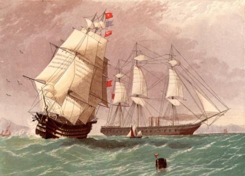 19th Century「British warship HMS Warrior」:スマホ壁紙(4)