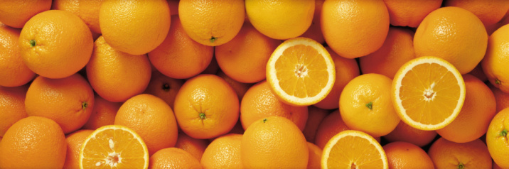 Orange - Fruit「Sliced and whole oranges in a group」:スマホ壁紙(12)