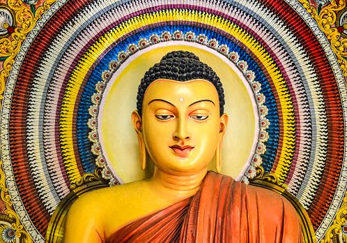 Sri Lanka「Interior Buddha Statue Wijithapura rajamaha viharaya.」:スマホ壁紙(11)