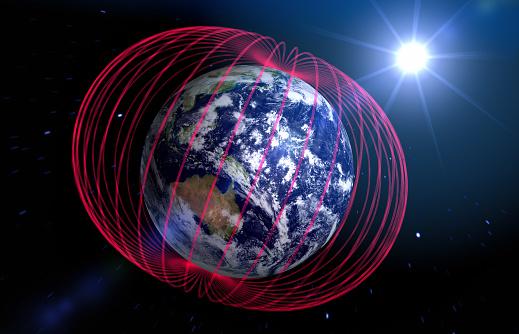 Planet Earth「Earth's magnetic field」:スマホ壁紙(5)