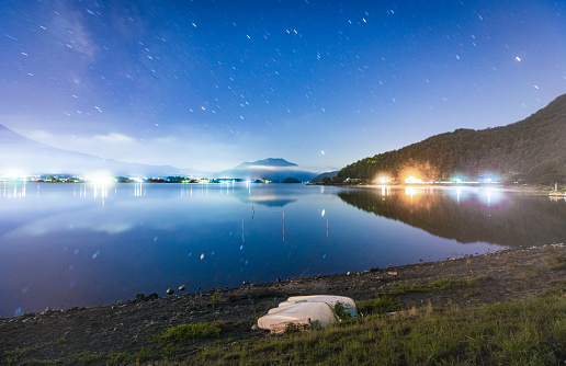 Lake Kawaguchiko「Mt. Fuji Japan Mountain Night starry sky Milky way」:スマホ壁紙(11)