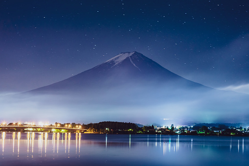 Lake Kawaguchiko「Mt. Fuji Japan Mountain Night Starry Sky Milky Way」:スマホ壁紙(4)