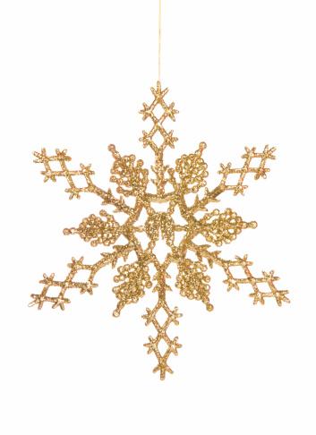 雪の結晶「ゴールドの結晶のオーナメント」:スマホ壁紙(0)