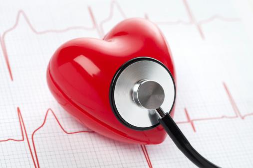 ハート「心臓の聴診器および EKG 、健康のコンセプト」:スマホ壁紙(7)