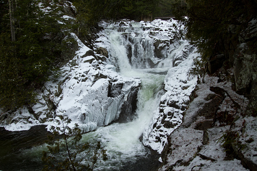 Adirondack Mountains「Snow Waterfall in the Adirondacks」:スマホ壁紙(7)