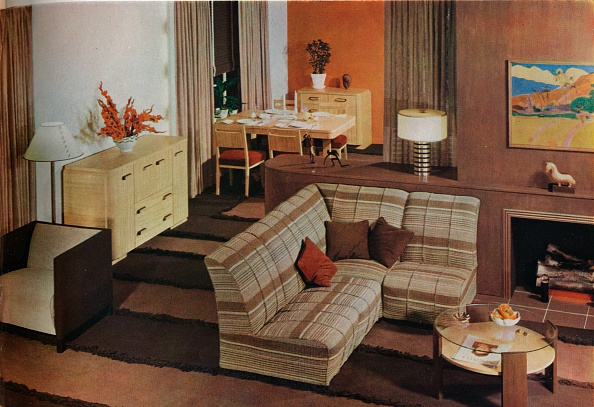 Open Plan「'Dining-living-room designed by Mary Davis Gillies for McCall's Magazine', c1940.」:写真・画像(5)[壁紙.com]