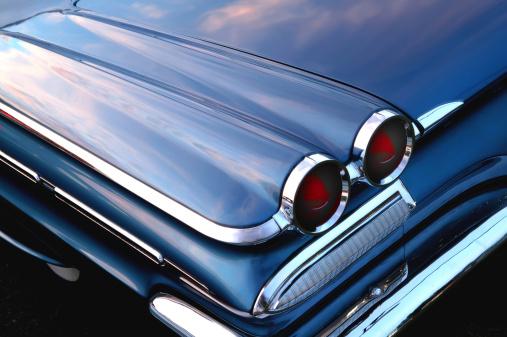 Hot Rod Car「retro blue car」:スマホ壁紙(15)